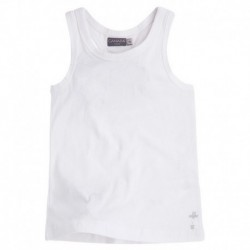 SLEEVELESS T-SHIRT BASQUET GIRL WHITE