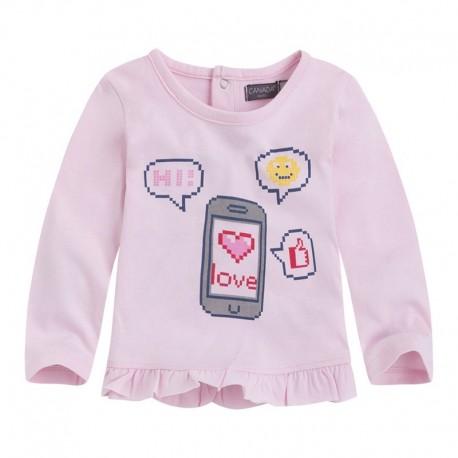 camiseta bebé niña BBMESSAGE