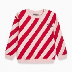 Sudadera afelpada RETRO STRIPES