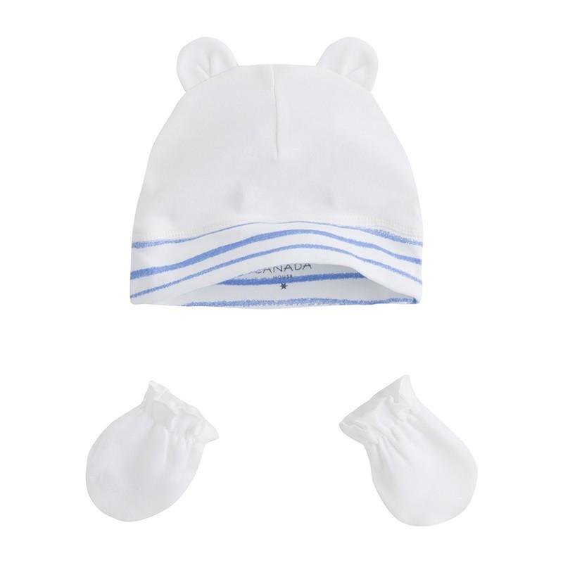 Pack gorro con manoplas recién nacido MINILIN - Canada House 3e5b723c5f8