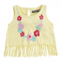 Camiseta bebé niña BBFlecos amarilla