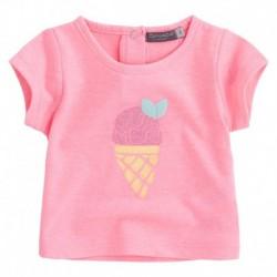 Camiseta bebé niña BBIce rosa