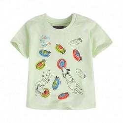 Camiseta bebé niño BBFrisbee verde